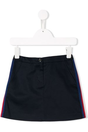Gucci Side stripes denim skirt