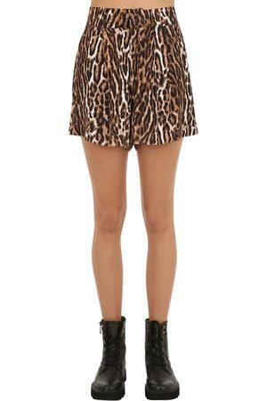 R13 Print Viscose Shorts