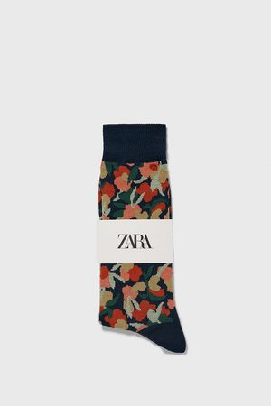 Zara Sok met bloemenjacquard