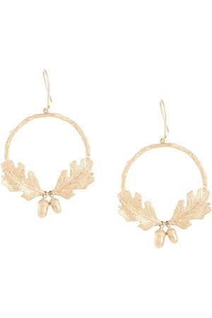 Karen Walker Acorn & leaf wreath earrings