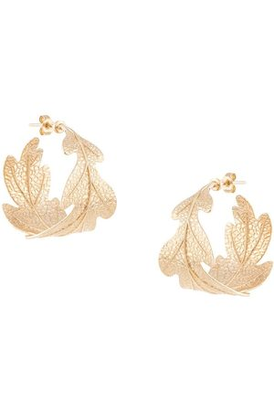 Karen Walker Oak leaf earrings