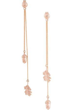 Karen Walker Dames Oorbellen - Acorn & leaf pendulum earrings