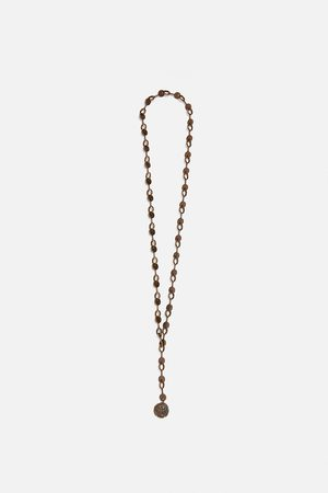 Zara Lange ketting met munt limited edition