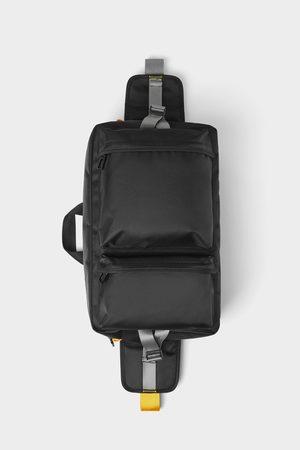 Zara Zwarte schoudertas met meerdere vakken