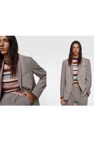 Zara Kostuumblazer met patchwork