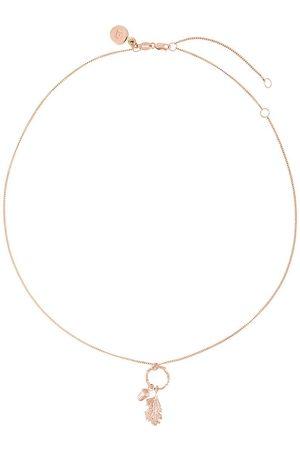 Karen Walker Acorn & leaf loop necklace