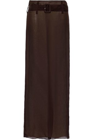 Prada Chiffon belted maxi skirt