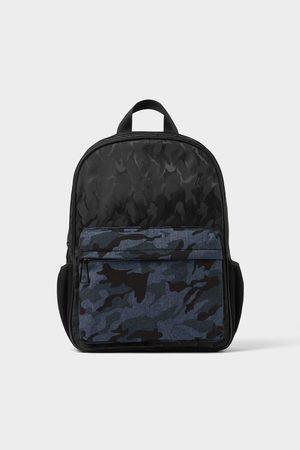 Zara Zwarte rugzak met camouflageprint