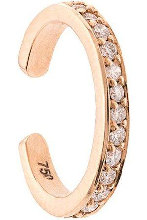 Anita 18kt rose single-row diamond ear cuff