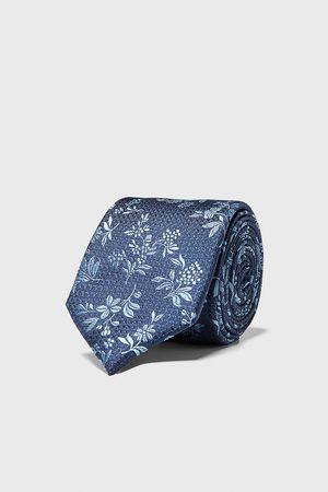 Zara Heren Stropdassen - Brede jacquard stropdas met bloemenprint