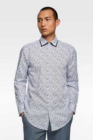 Zara Overhemd met dubbele kraag en bloemenprint