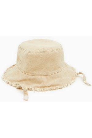 Zara Denim hoed met rafels