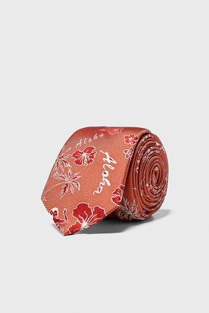 Zara Smalle stropdas met jacquard