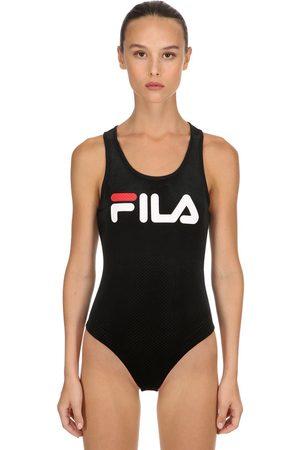 Fila Dames Body's - Lupita Cotton Blelnd Velour Bodysuit