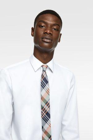 Zara Smalle jacquard stropdas met ruiten