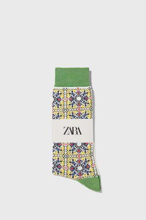 Zara Gemerceriseerde jacquardsokken met geometrische print