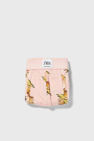 Zara Boxershort met bloemenprint