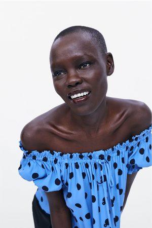 Zara Dames Tops & T-shirts - Top met stippenprint