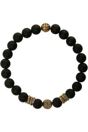 Nialaya Engraved bead bracelet