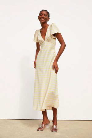Zara Satijnachtige jurk met stippen