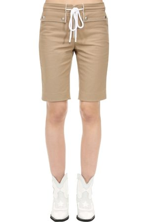 Courrèges Cotton Biker Shorts W/ Drawstring