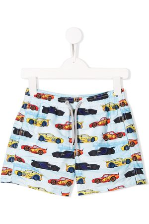 MC2 SAINT BARTH Racing car print shorts