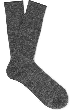 Mr P. Mélange Cotton-blend Socks
