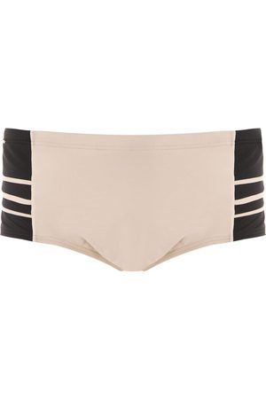 AMIR SLAMA Panelled swim trunks