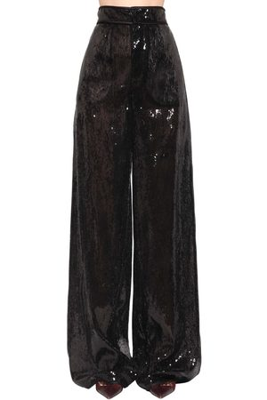 Dsquared2 High Waist Sequined Wide Leg Pants