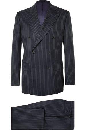 KINGSMAN Harry's Navy Pinstriped Super 120s Wool Suit