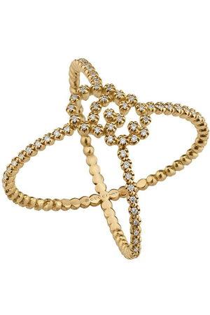 Gucci GG Running diamond X ring