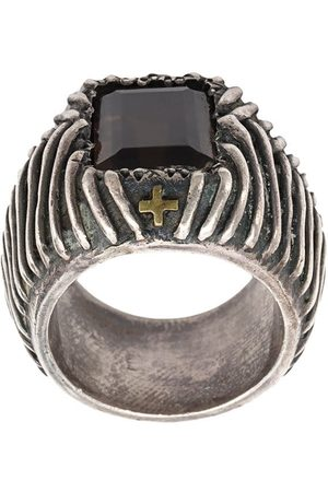 TOBIAS WISTISEN Cross etched ring
