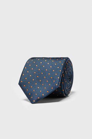 Zara Brede stropdas met stippen