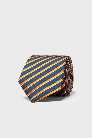 Zara Brede stropdas met strepen