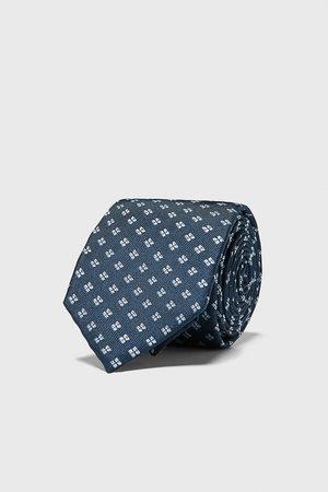 Zara Brede jacquard stropdas met geometrische motieven