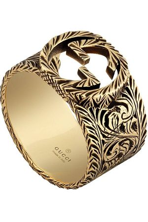 Gucci Yellow gold ring with Interlocking G