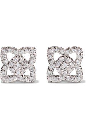 De Beers 18kt Enchanted Lotus diamond small stud earrings