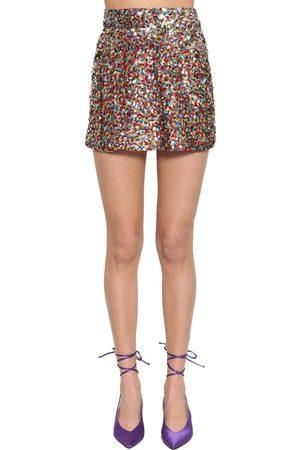 ATTICO Dames Rokken - High Waist Sequined Miniskirt