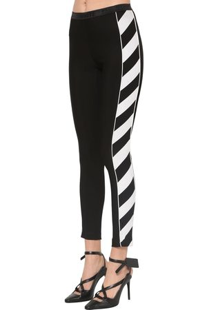 OFF-WHITE Logo Stretch Jersey Sport Leggings