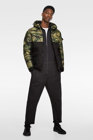 Zara Gewatteerd combi-jack met camouflageprint