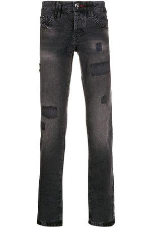 Philipp Plein Heren Straight - Distressed straight-leg jeans