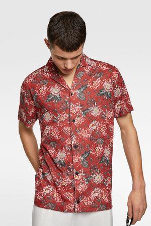 Zara Tricot overhemd met bloemenprint