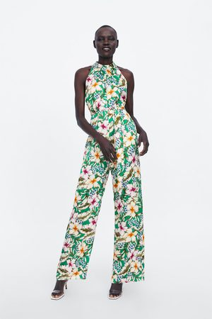 ae0d6d7d Jumpsuit met halterkraag en bloemenprint