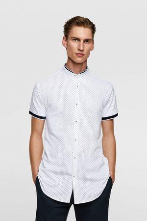 Zara Heren T-shirts - Polka dot print piqué shirt