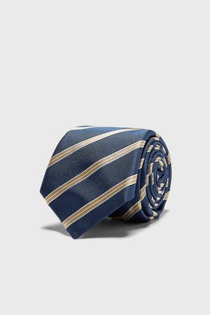 Zara Brede jacquard stropdas met strepen