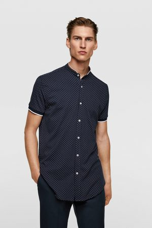 Zara Polka dot print piqué shirt