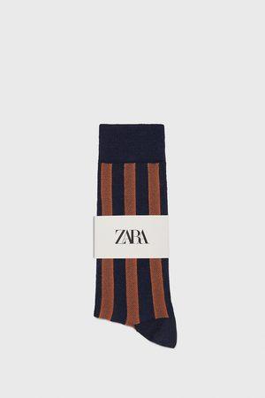 Zara Gemerceriseerde sokken met strepen