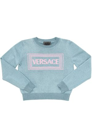 VERSACE Meisjes Sweaters - Embroidered Lurex Blend Knit Sweater