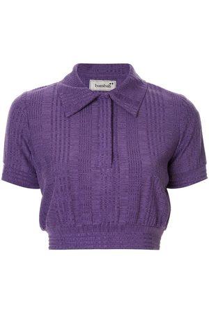 Bambah Cropped knit polo shirt