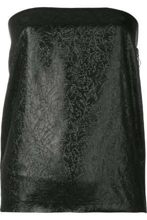 ROMEO GIGLI Glittery embroidery strapless top